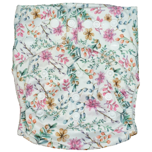 Hippybottomus Stay Dry Bamboo Nappy - Blossom