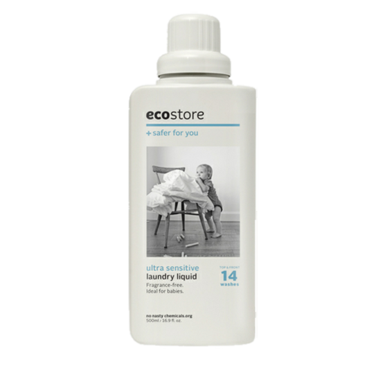 Ecostore laundry liquid - recommended for modern cloth nappies