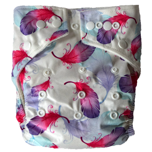 Stay Dry Bamboo Cloth Nappy - Feathers