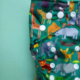 Stay Dry Bamboo Cloth Nappy - Zoo
