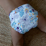 Stay Dry Bamboo Cloth Nappy - Koala