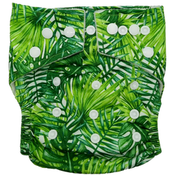 Stay Dry Bamboo Cloth Nappy - Leaves