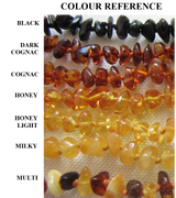 Amber Teething beads - colour selection