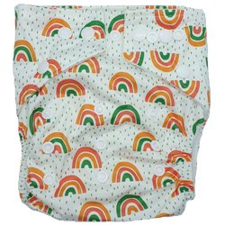 Hippybottomus Stay Dry Bamboo Nappy - Rainbows