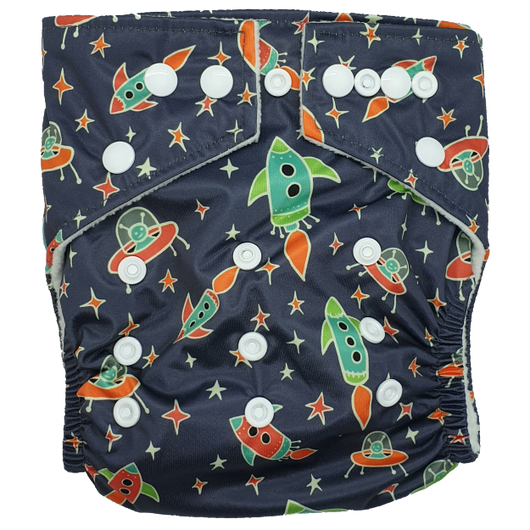 Hippybottomus Stay Dry Bamboo Nappy - Space