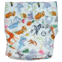 Hippybottomus Stay Dry Bamboo Nappy - Summer Friends