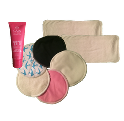 Hippybottomus Breast Care Pack including bamboo Breast Pads