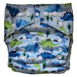 Stay Dry Bamboo Cloth Nappy - Dinosaurs
