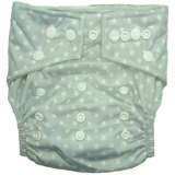 Hippybottomus Bamboo Reusable Nappy - Grey Stars