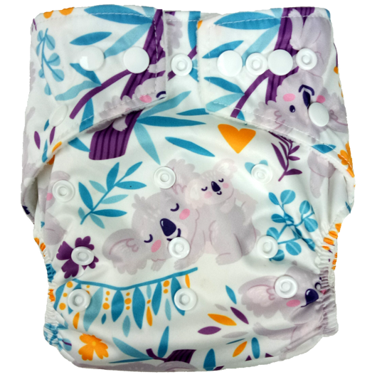 Charity Reusable Cloth Nappy supporting Port Macquarie Koala Hospital and Australian Wildlife