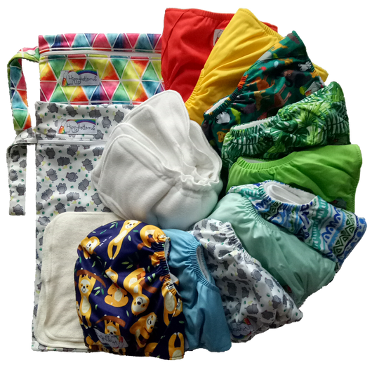 Reusable diaper pack for part time use