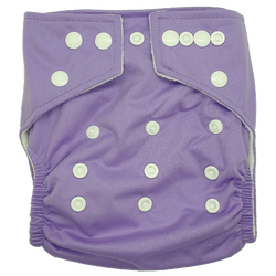Hippybottomus Stay Dry Bamboo Cloth Nappy Australia - Purple