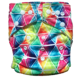 Stay Dry Bamboo Cloth Nappy - Rainbow