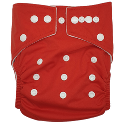Hippybottomus Stay Dry Bamboo Cloth Nappy Australia - Red