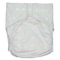 Hippybottomus Stay Dry Bamboo Cloth Nappy Australia - White