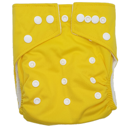 Hippybottomus Stay Dry Bamboo Cloth Nappy Australia - Yellow