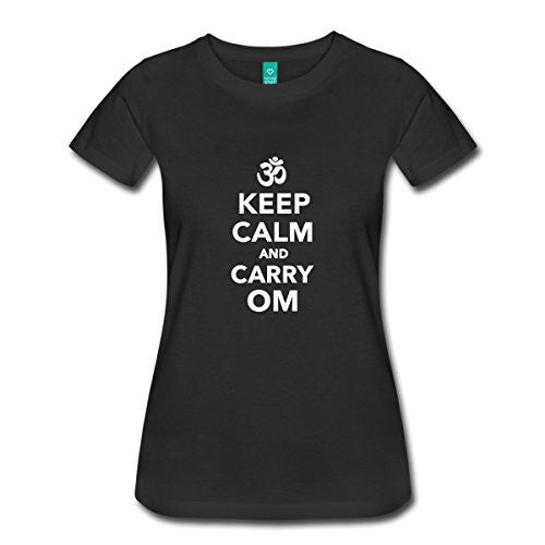 Keep Calm and Carry Om T Shirts For Women