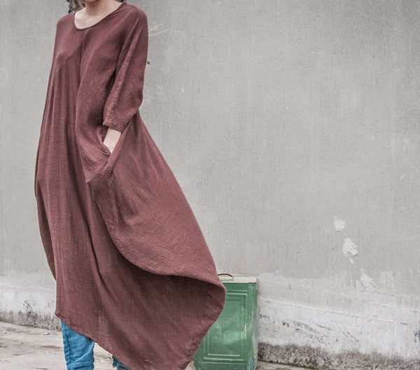 Zen Winter Spiritual Maxi Dress/Cloak (Cotton)