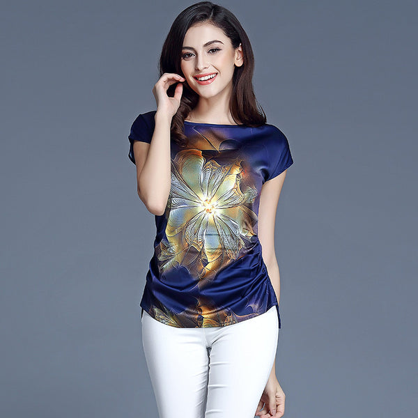 Abstract Spiritual Casual T-shirt for Ladies