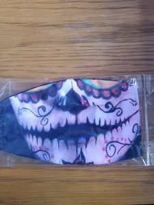 Sugar Skull 3 Face Mask