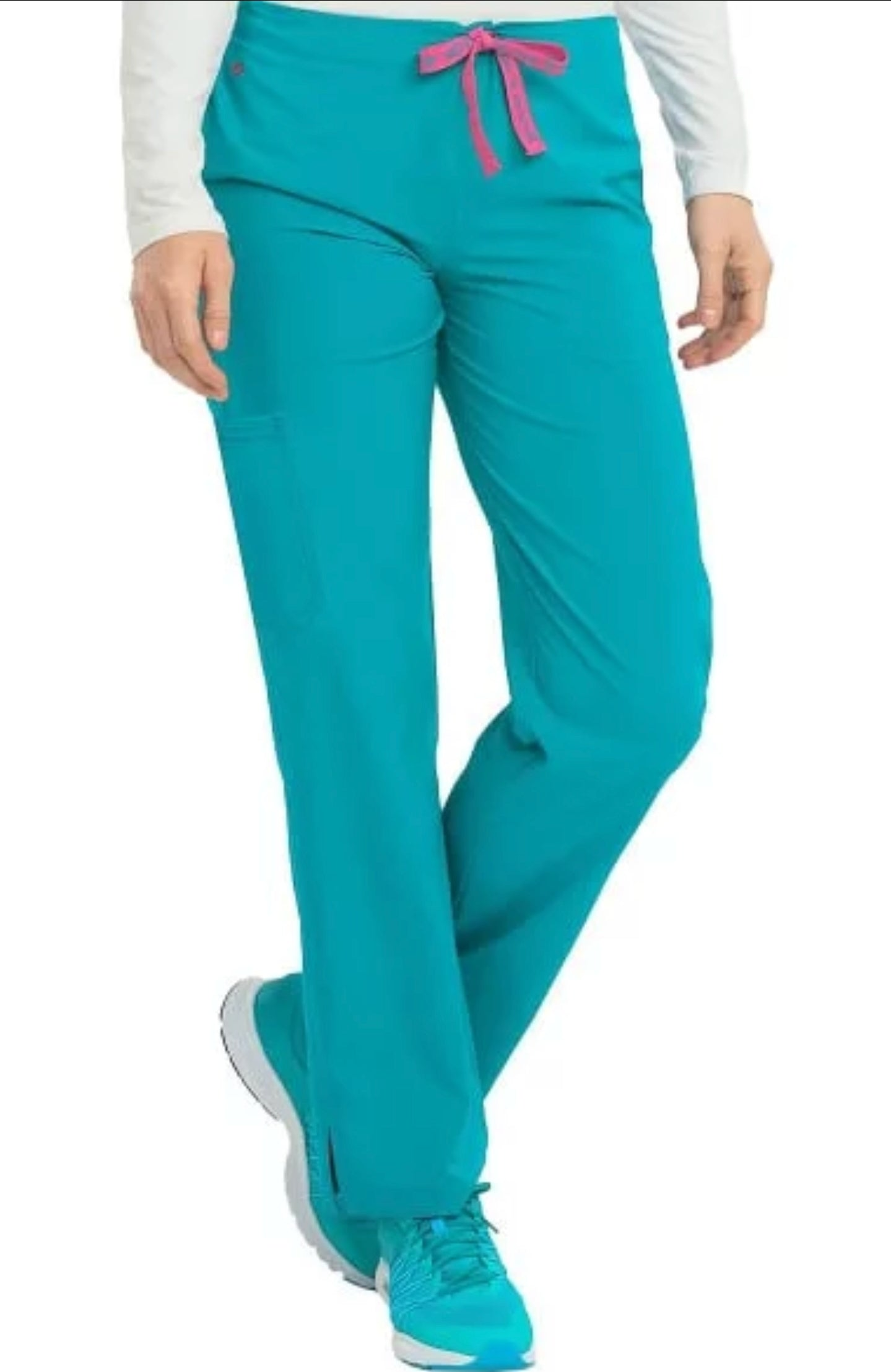 Women's Drawstring Cargo Pocket Scrub Pant