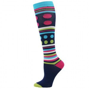 Compression Sock - Fashion Stripe & Dot Design