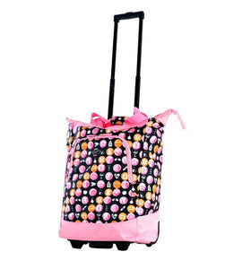 Rolling Medical Tote- Pink