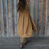 Split Dress - Rust