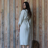 Padma Wrap Dress - Neutral