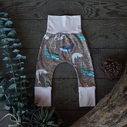 Grow With Me Pants - Whimsy Whales