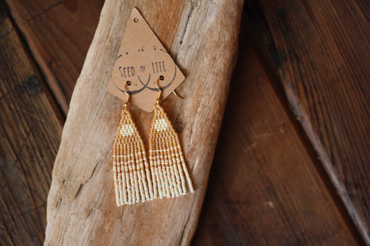 Seed of Life Strawberry Moon Earrings