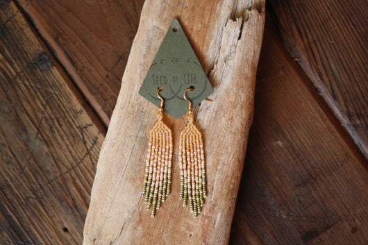Seed of Life Apricot Earrings