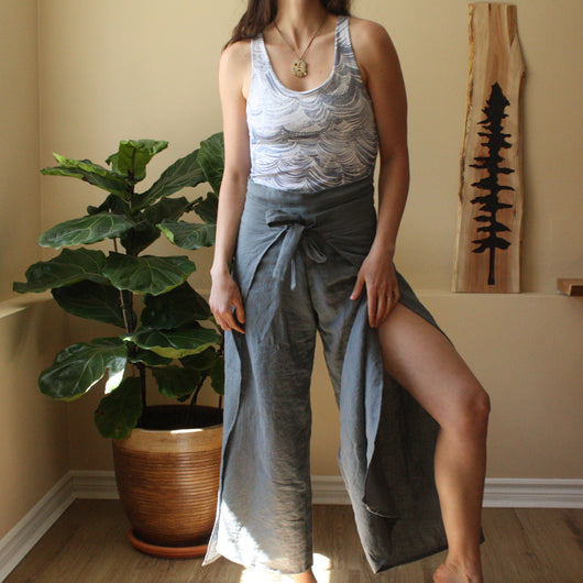 Wrap Pants - Steel Blue