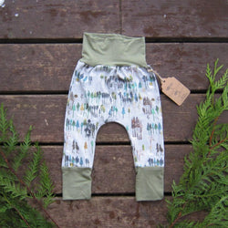 Grow With Me Pants - Snowy Forest
