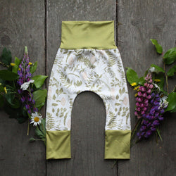 Grow With Me Pants - Luminous Leaves