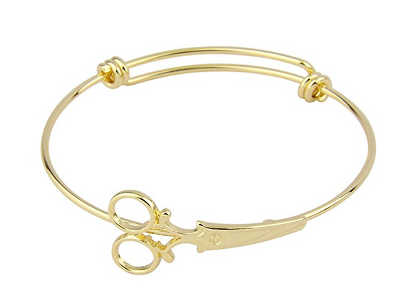 Add a Beautiful Hairstylist/Barber Gold Tone Bracelet - Only $6.88!