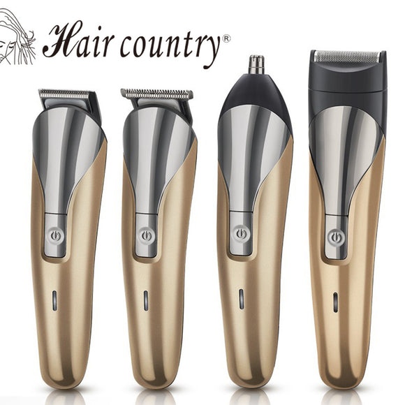 Professional 4 In 1 Electric Hair Clipper Professional Quiet Electric Trimmer Cutting Machine Barbering Tool  110V-240V