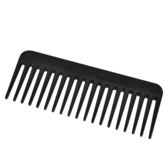 19 Teeth Black High Quality ABS Plastic Heat-resistant Large Wide Tooth Comb Detangling Wide Teeth Hairdressing Comb