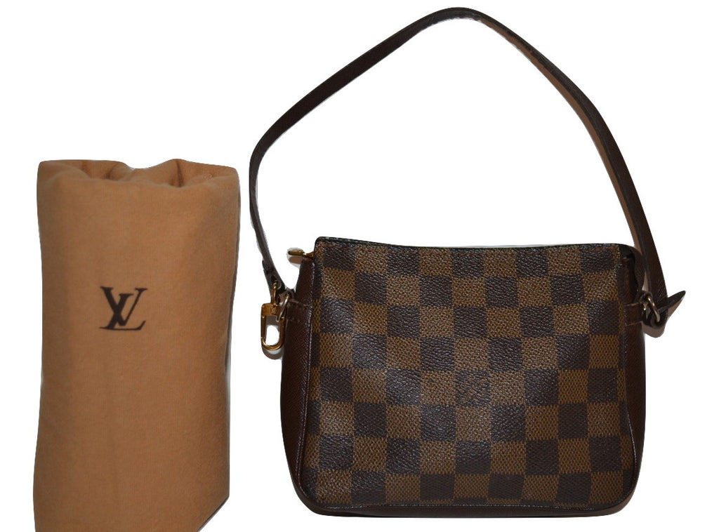 reliable quality later innovative design Authentic Louis Vuitton Damier Ebene Truth Accessories Pouch Clutch Bag  Makeup Pouch - Includes Certificate Of Authenticity & LV Dust Bag (SALE -  71% ...