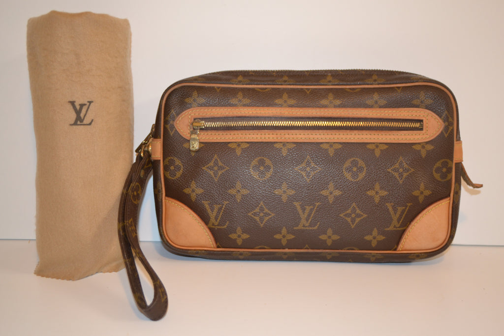 ebf62356a5a9 ... Louis Vuitton Marly Dragonne Monogram Pochette Clutch Bag - Includes LV  Dust Bag ...