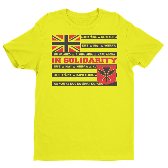 Solidarity Hawaii T | Hawaiian T Shirt - Front