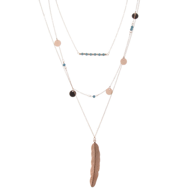 Feather Layered Necklace
