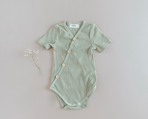 Two Darlings Summer Bodysuit in Olive available at 2 Little Rascals NZ
