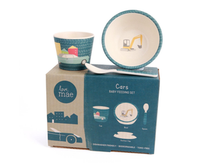Cars baby Feeding set by Love Mae available at 2 Little Rascals NZ