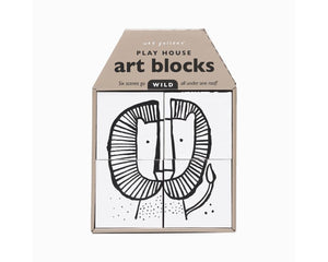 Wee Gallery Play House Art Blocks WILD available at 2 Little Rascals NZ