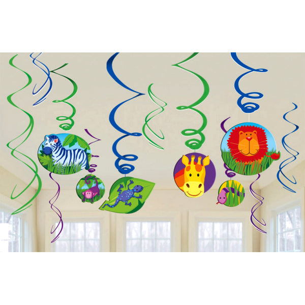 Jungle Animals - Swirl Decorations