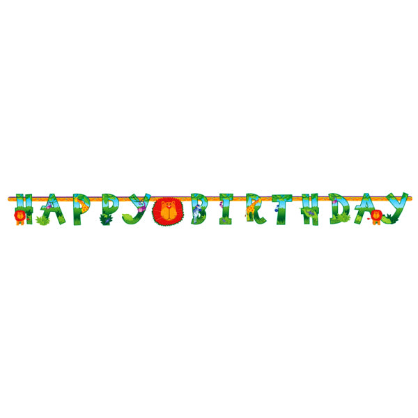 Jungle Animals - Happy Birthday Banner