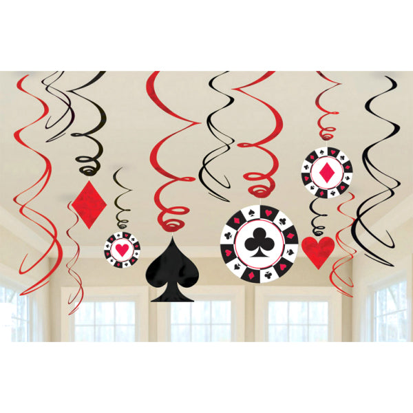 Casino - Swirl Decorations