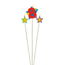 Star Birthday Candle - 8
