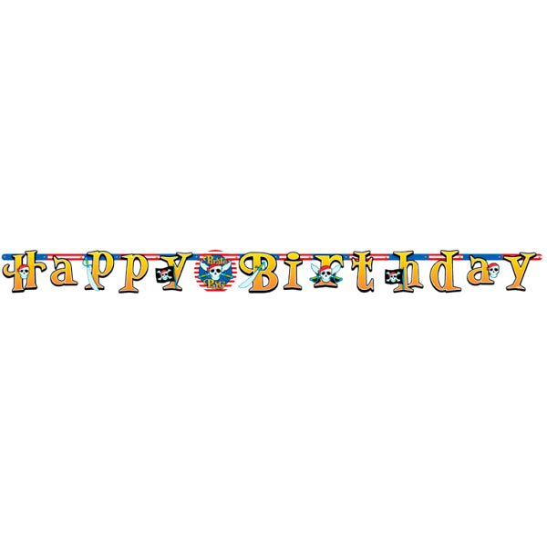 Pirate Party - Happy Birthday Banner